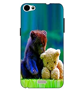 Case Cover Love Printed Blue Soft Back Cover For LYF WATER 11
