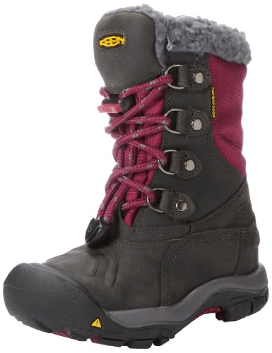 Keen Unisex - Child BASIN WP Y Snow Boots Red Rot (MAGNET/RASPBERRY RADIANCE) Size: 37