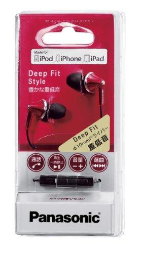 Panasonic ステレオインサイドホン iPod/iPhone/iPad専用 レッド RP-HJC19-R