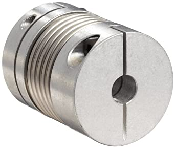 Lovejoy Bellows Coupling, BWC Series Clamp Style, Aluminum Hubs with Stainless Steel Bellows, Complete Coupling