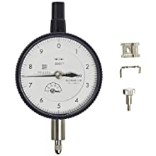"Mitutoyo Dial Indicator, Inch, #4-48 UNF Thread, 0.375"" Stem Diameter"
