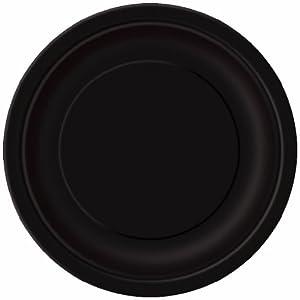 Unique Industries 16 Count Dinner Plates, Midnight Black