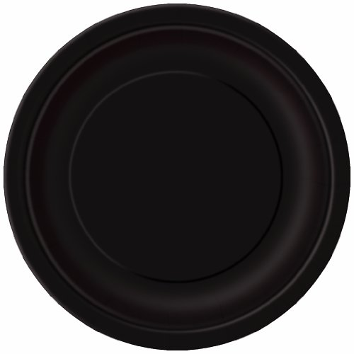 Black Party Plates (16 pack) / Runde Partyteller [Spielzeug]