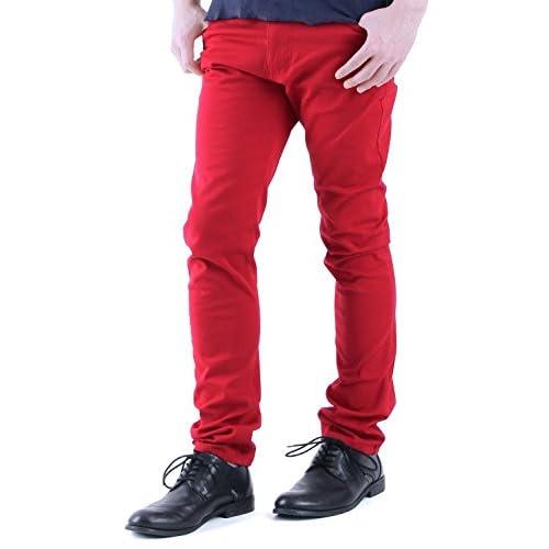 (ラフタス)Rafftas ストレッチ カラー スキニー スリム パンツ L サイズ レッド メンズ ボトムス ウルトラ フィットパンツ