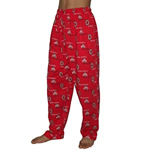 NCAA Ohio State Buckeyes Mens Cotton Sleepwear / Pajama Pants XL Red