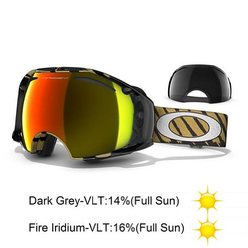 Oakley Airbrake Adult Goggles 2012; (Black/Fire Iridium)