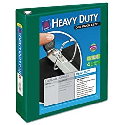 Heavy Duty Nonstick View Binder w/Locking 1 Touch EZD Rings, 2\