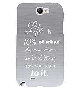 Fuson 3D Printed Quotes Designer back case cover for Samsung Galaxy Note 2 - D4545