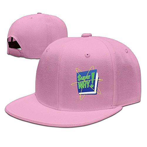super-why-logo-unisex-100-cotton-pink-adjustable-snapback-trucker-hats-one-size