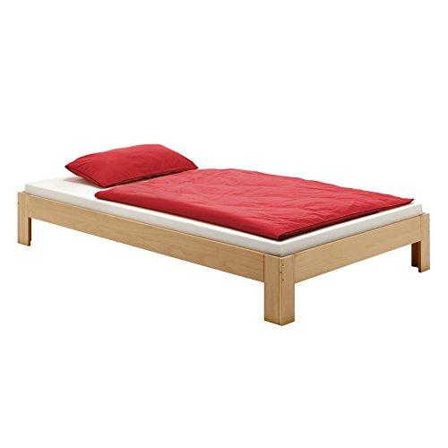 Futonbett-Einzelbett-THOMAS-100-x-200-cm-Kiefer-massiv-buchefarben-lackiert