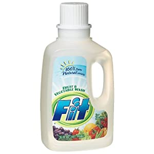 FIT Fruit & Vegetable Wash for Organic Produce 100% Natural 32 oz. (Pack of 2)