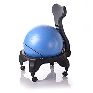 Kikka active chair bleu chaise ergonomique avec ballon d for Chaise ballon ergonomique