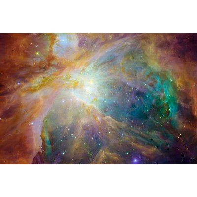 Orion Nebula Space Photo Art Poster Print - 11X17 Custom Fit With Richandframous Black 17 Inch Poster Hangers