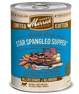 Merrick GF Star Spangled Supper Dog Food 12.7z (Pack of 12)