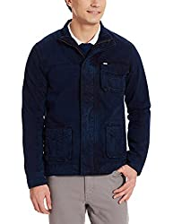 Arrow Sports Men's Cotton Jacket (8907036907841_AJOS9012_XXL_Navy Blue)