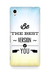 Amez Be the Best version of Yourself Back Cover For Sony Xperia M4