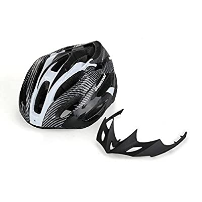 Crazo Unisex Adult Mens Road MTB Bike Racing Bicycle Cycling Cycle Sports Safety Helmet Visor Adjustable by Crazo