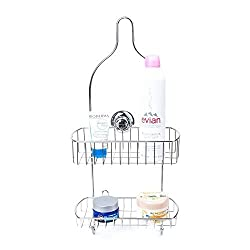 IMIEE Raphael Bathroom Shower Caddy for Shampoo, Conditioner, Soap - Satin