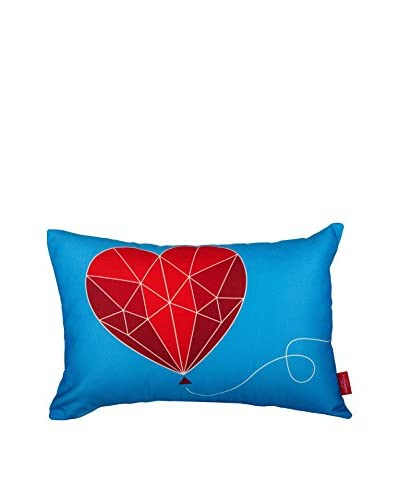 Best seller living Cojín Follow Your Heart Rojo/Azul/Blanco