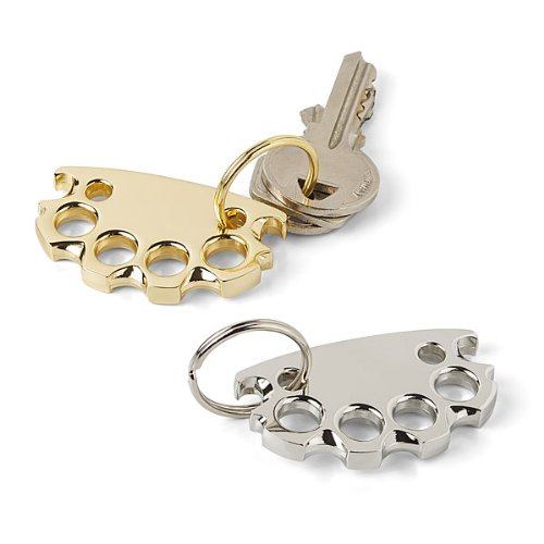 Brass Finish BabyKnucks Bottle Opener Keychain - Bad Attitude Fixer-Upper - 1