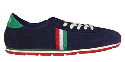 El Ganso Uomo Zapatilla Running Ante Marino Cinta Scarpe da Ginnastica Basse Blu Size: 45