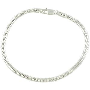 925 Sterling Silver Snake 7.5