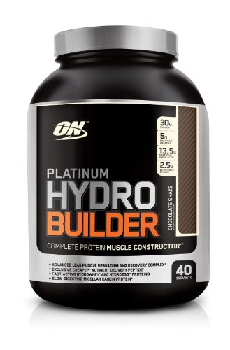 Optimum Nutrition Platinum Hydrobuilder, Chocolate Shake, 4.59 Pound Jar