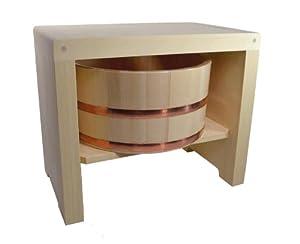 Amazon Com Japan Hiba Wood Bath Stool Amp Hinoki Pure Wood