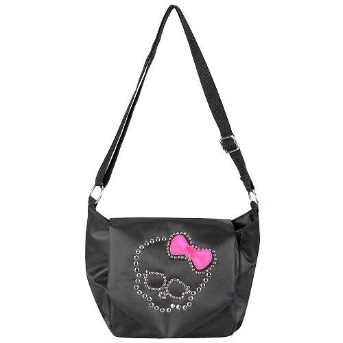 Monster High Freaky Fab Crossbody Bag - Black with Pink Bow