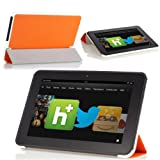 MoKo Ultra Slim Lightweight Smart-shell Stand Case For Amazon Kindle Fire HD 8.9-Inch Tablet ORANGE (with Smart...