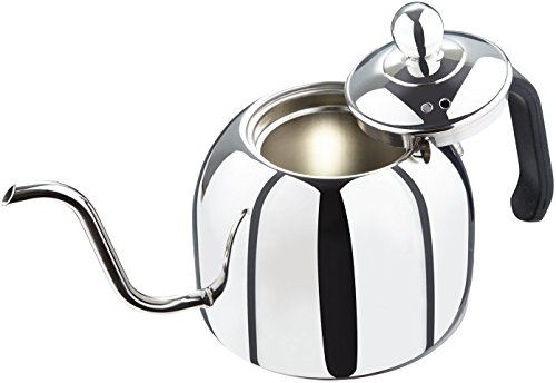 Zell Pour Over Kettle for Coffee and Tea, Premium 18/8 Stainless Steel, Works on Gas or Electric Stovetop, 40 oz (1200 ml) capacity