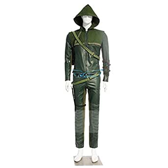 Angelaicos Mens Top Design Halloween Cosplay Costume Suits Sets Army Green