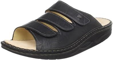 Finn Comfort Women's Andros Slide Rocker Sandal,Black Plisseelight,36 EU/5 M US