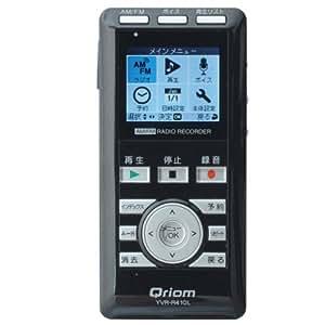 山善(YAMAZEN) キュリオム AM/FM ラジオボイスレコーダー ブラック YVR-R410L(B)