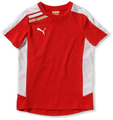 PUMA Kinder Trainingsshirt Esito, puma red-white, 176, 652600 01