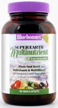 Super Earth Formula Multinutrient Mini-Caplets (Iron Free) Bluebonnet 90 Caplet