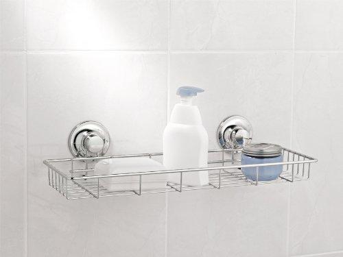 Bath Kitchen shelf chrome plated steel 2 suction cups