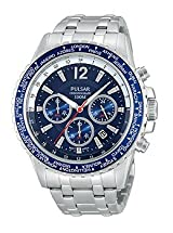 Pulsar On The Go Chronograph Stainless Steel Men's watch #PT3579