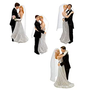 Bride and Groom Wedding Cake Topper (1pc): Amazon.co.uk ...