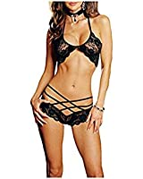 Outop Sexy Dentelle Lingerie Nuisette Top + G-string Set Femme Fille