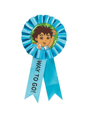 Go Diego Go Go Ribbon Silk Award Ribbon (1 per package)