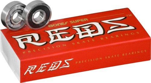 Bones Bearings Bones Super REDS Skateboard Bearings 8mm 16 Pack
