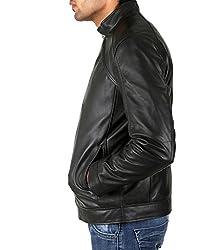 Shagoon Emporium Men's Leather Jacket(sh0027_Black_Medium)