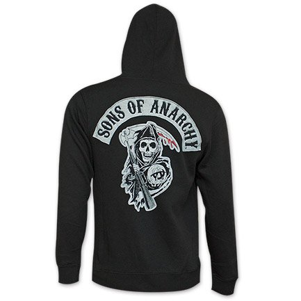 Sons Of Anarchy Reaper Crew Men's Hoodie, Black, XL