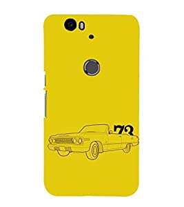 EPICCASE Vintage car 1973 Mobile Back Case Cover For Huawei Nexus 6P (Designer Case)