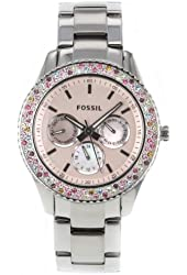 Fossil Women's ES3050 Stainless Steel Analog Pink Dial Watch