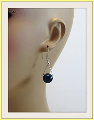 Pam Jewelry Black Onyx Dangling Silver Earrings, 12mm at Sears.com