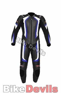 Nouveau RST R-1004 1 pièce en cuir bleu moto costume