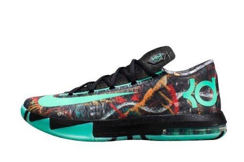 Nike Kd Vi Illusion All Star Men Sneakers Green Glow-Black 647781-930 (Size: 8)
