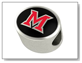 Premium Collection Miami of Ohio Charm and Bead Fits Most Pandora Style Bracelets Including Chamilia Troll and More. High Quality Bead in Stock for Fast Shipping
